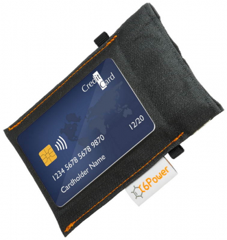 anti-theft-bag closed (debit card on top), for keyless go key, debit cards, identity card, colour: black