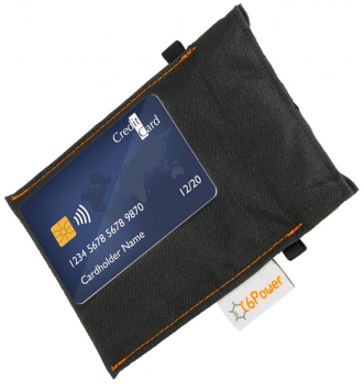 XL anti-theft-bag closed, for keyless go key (key for size comparison), debit cards, identity card, colour: black