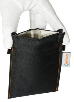 XL anti-theft-bag opened, for keyless go key, debit cards, identity card, colour: black