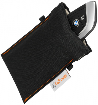 anti-theft bag closed, for keyless go key, debit cards, identity card, colour: black