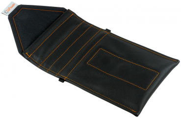 open anti-spy & anti-theft-cell-phone-bag in  genuine leather black