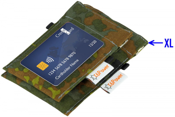 anti-theft-bag closed, for keyless go key (key for size comparison), debit cards, identity card, color: camouflage