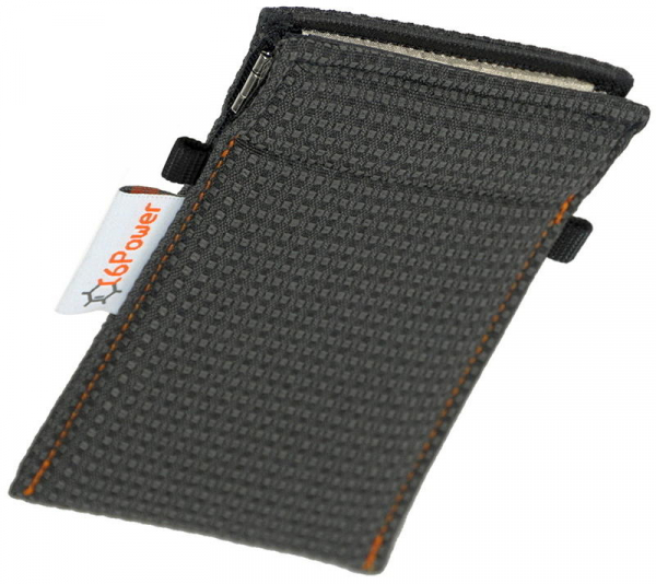 anti-theft-bag closed, for keyless go key, debit cards, identity card, anthracite patterned